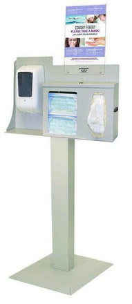 Respiratory Hygiene Station Floor Stand With Fixed Dispenser