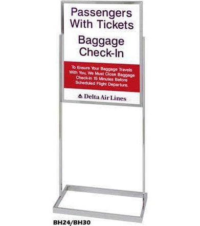 Visiontron Floor Standing Bulletin Sign Holders