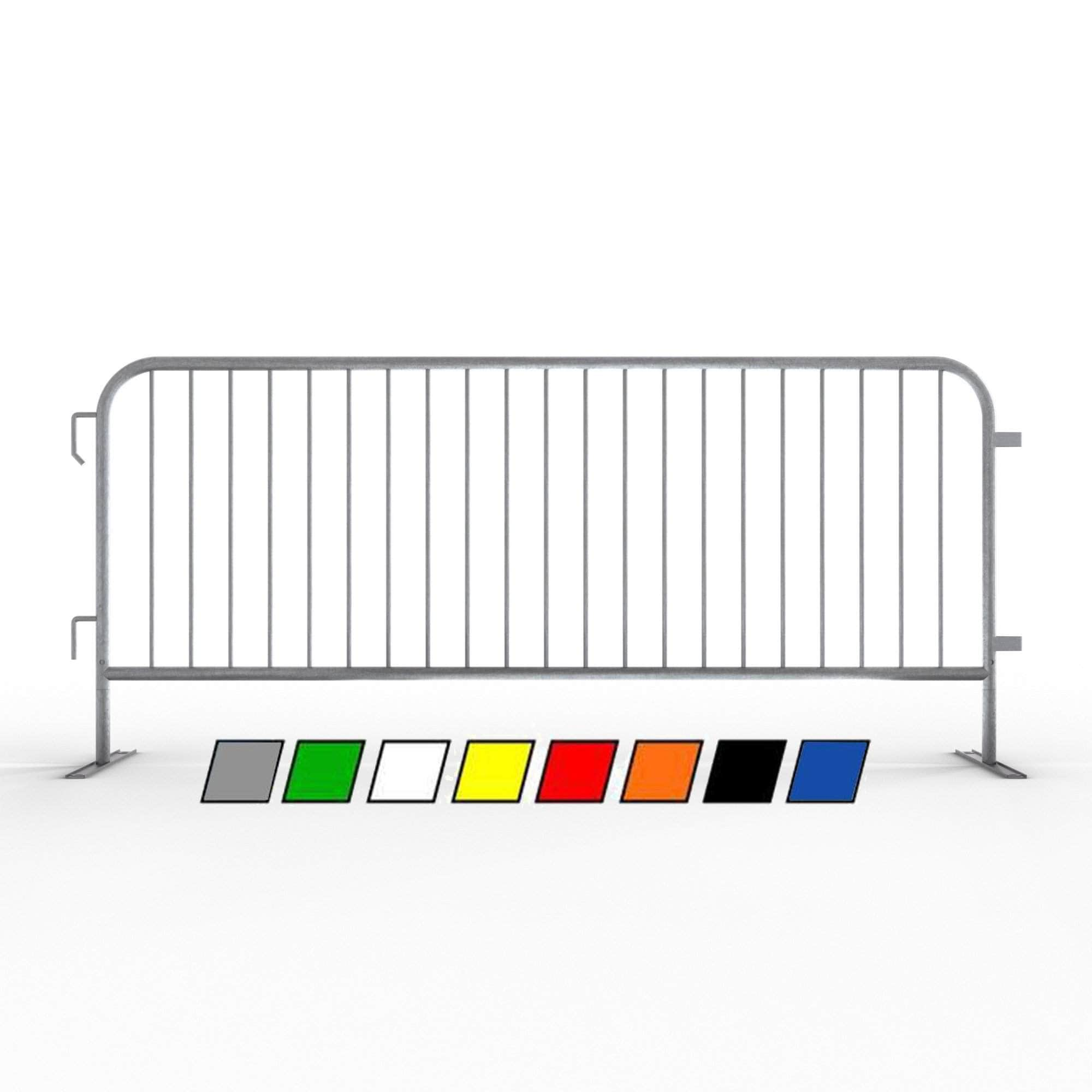 GALVANIZED STEEL ONE-PERSON OPERATION CROWD CONTROL BARRICADES 6.8/'