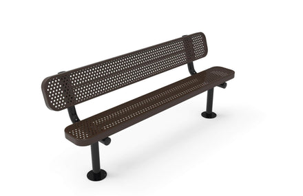 Standard Park Bench with Back - Circular Pattern