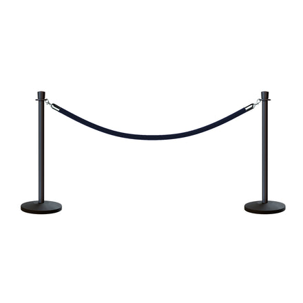 CCW Post and Rope Stanchion Kit with Crown Top Posts and Hanging Heavy Duty Velvet Cotton Core Ropes (6ft. each)