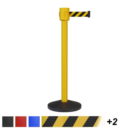 CCW Series RBB-500 Safety Portable Retractable Belt Barrier Stanchion- 20, 25, 30, & 35 Ft