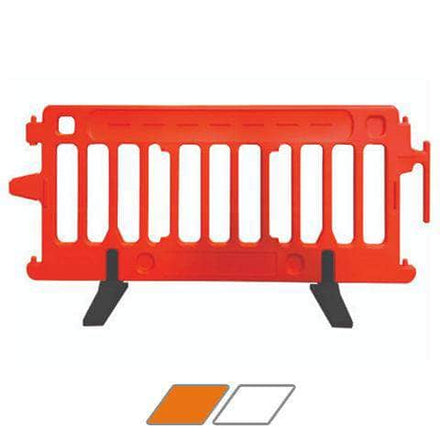 CrowdCade Plastic Barricade available in orange or white