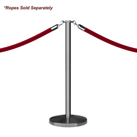 Flat Top Rope Stanchion with Sloped Base