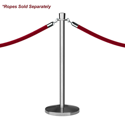 Crown Top Rope Stanchion with Sloped Base - Montour Line
