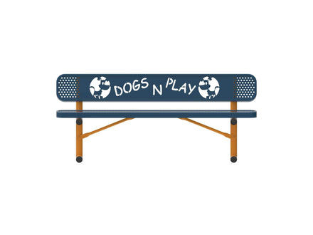 Dog Themed Park Bench