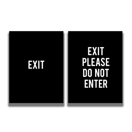 2-Sided Sign Insert - 'EXIT/EXIT PLEASE DO NOT ENTER'