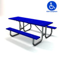 Galvanized Frame Picnic Table