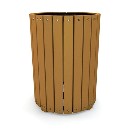 Heavy-Duty Round Trash Receptacle