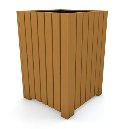 Heavy-Duty Square Trash Receptacle
