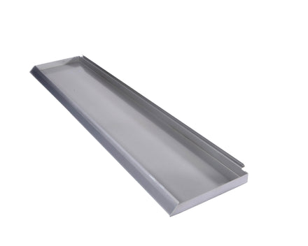 Flat Metal Shelf for Merchandising Panels - 49.5 In. x 9 In.