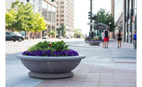 Large round concrete planter perfect for security or landscaping