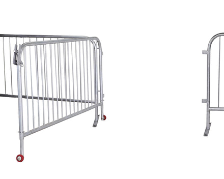 Extra-Wide Size Swing Gate for Interlocking Steel Barricades