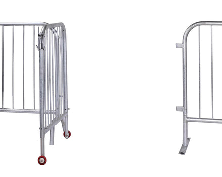 Standard-Width Swing Gate for Interlocking Steel Barricades