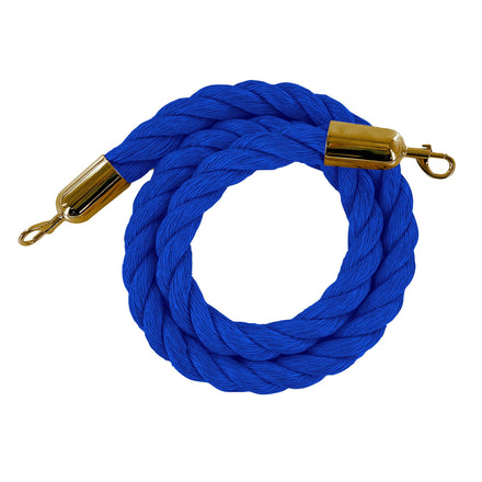 Heavy-Duty Twisted Polypropylene Ropes for Stanchion Posts - Trafford Industrial