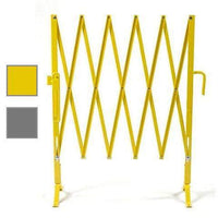 Heavy-Duty Portable Aisle Gates with Safety Yellow and Aluminum Color Options