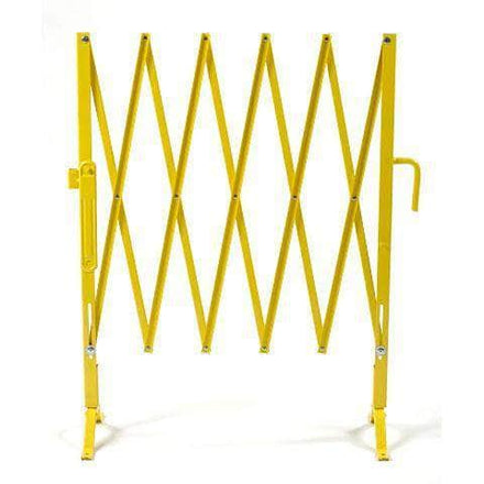 Safety Yellow Heavy-Duty Portable Aisle Gates