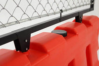 Chain Link Fence on Water/Sand Fillable Traffic Jersey Barrier for sale