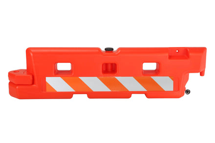 "Water/Sand Fillable Low-Profile Roadway Barrier - 24"" H x 96"" L x 14"" W"