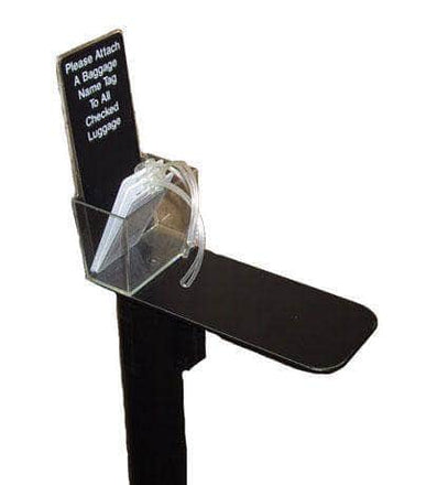 Visiontron Retracta-Belt Post Mount Baggage Name Tag Holder