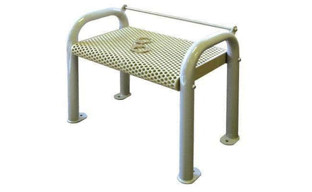 Backless Metal Single Seat Security Detention Bench