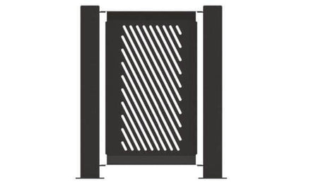 Decorative Event Fence Panel - Slant Pattern