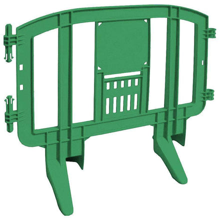 Green Minit 4 Ft. Interlocking Plastic Barricade