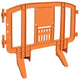 Orange Minit 4 Ft. Interlocking Plastic Barricade
