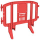 Red Minit 4 Ft. Interlocking Plastic Barricade