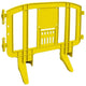 Yellow Minit 4 Ft. Interlocking Plastic Barricade