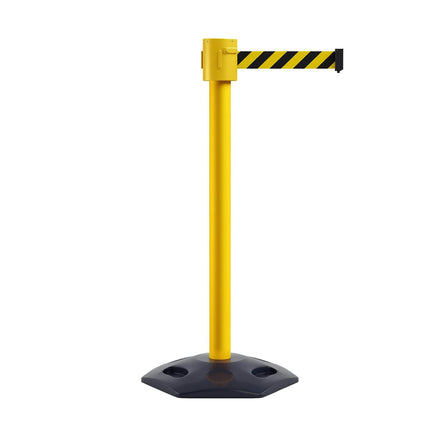 CCW Series RBB-500 Weather Safety Portable Retractable Belt Barrier Stanchion- 20, 25, 30, & 35 Ft