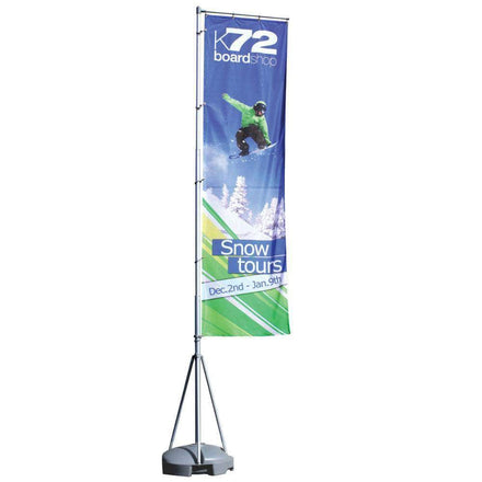 Giant Flag Pole with Custom Printing