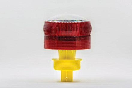 Add-On Solar Powered Airport Barricade Flashing Warning Light