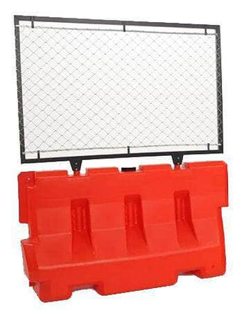 Orange Water/Sand Fillable Roadway Jersey Barrier with Fencing Option