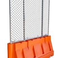 Water/Sand Fillable Jersey Barrier with Fencing Option -  32