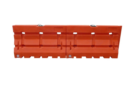 "Water/Sand Fillable Roadway Barrier - 42"" H x 72"" L x 24"" W - 100 lb."