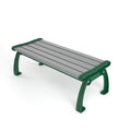 Five Slats Backless Park Bench - 2'' x 4'' slats, 6ft and 8ft