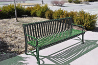 Ornamental Steel Park Bench with Back and Arms - 6 Ft.