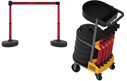 PLUS Cart Package with Tray Set of 5 Banner Stakes with 15 ft Belts