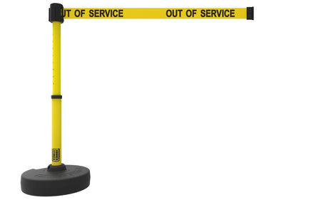 Banner Stakes PLUS Line Stanchion with 15 ft Belt Head, Stake, and Base