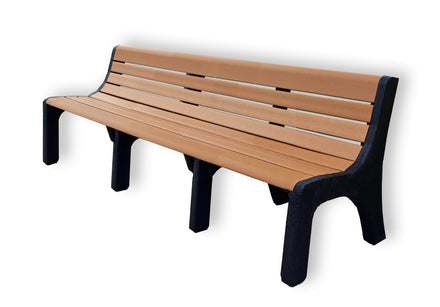 Eight Slats Park Bench - 2'' x 4'' and 2'' x 6''