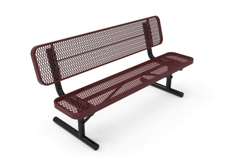 Player's Park Bench with Back - Diamond Pattern