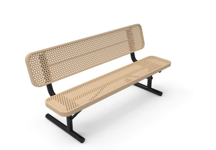 Player's Park Bench with Back - Circular Pattern