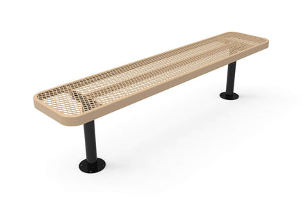 Player's Park Bench without Back - Circular Pattern