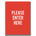 Double-Sided Sign -
