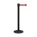CCW Series RBB-100 Retractable Belt Barrier Black Post - 10 Ft. Belt