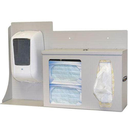 Respiratory Hygiene Station With Fixed Dispenser