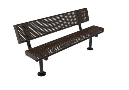 Rolled Park Bench with Back -  Circular Pattern