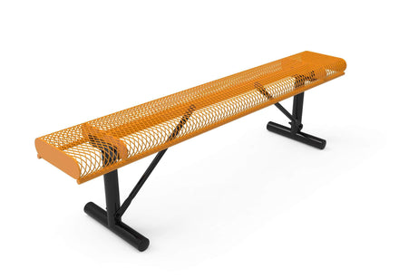 Rolled Park Bench without Back - Diamond Pattern / Expanded Steel