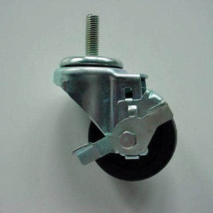 "3"" x 1 1/4"" Locking Rubber Casters"